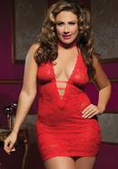 Midnight Affair 3pc Chemise - Red - Qs